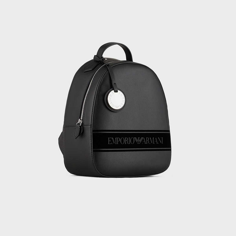 Emporio Armani Backpack With Flocked Logo And Charm