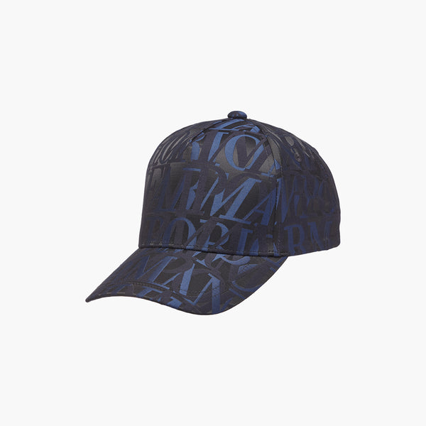 Emporio Armani All Over Logo Jacquard Baseball Cap