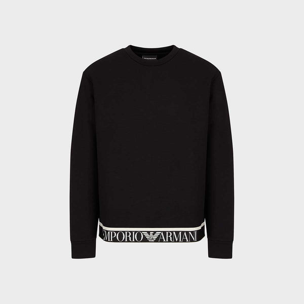 Emporio Armani Crew-Neck Sweatshirt With Logo Band Detail
