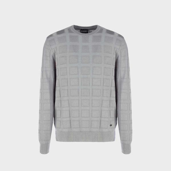 Emporio Armani Crew-Neck Sweater With Patterned Weave