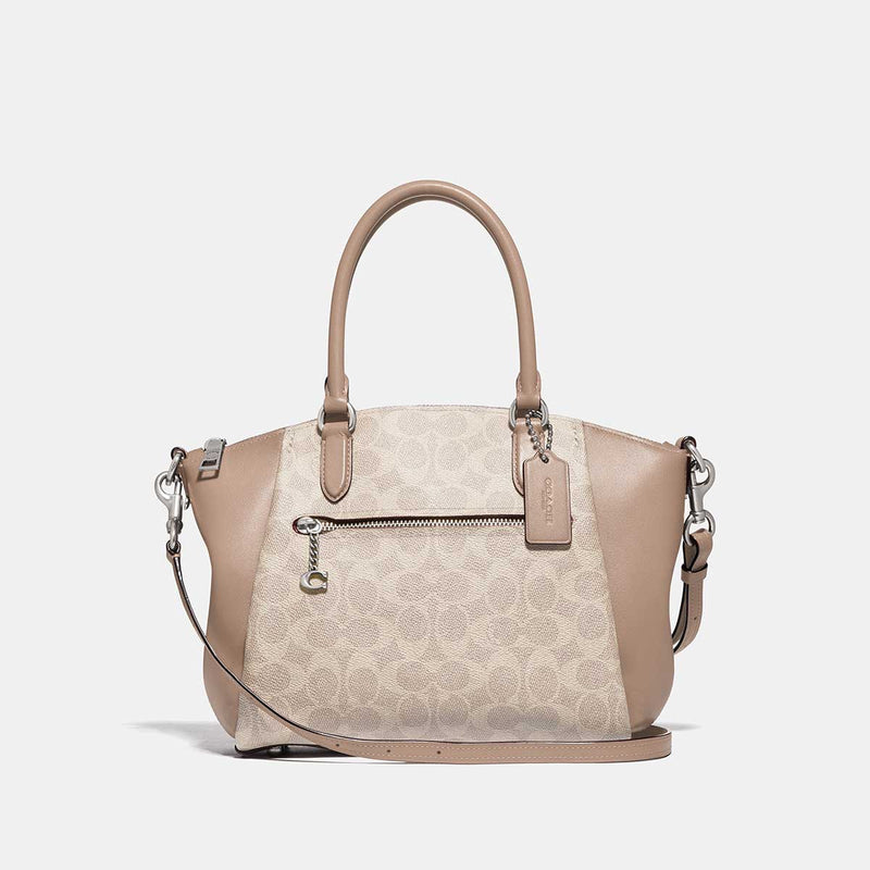Coach Elise Satchel In Signature Canvas