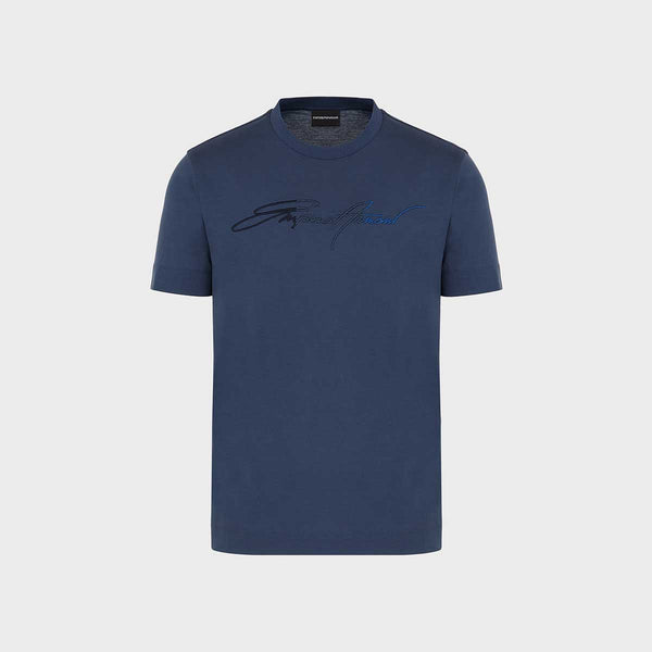 Emporio Armani Silky Jersey T-Shirt With Signature Logo