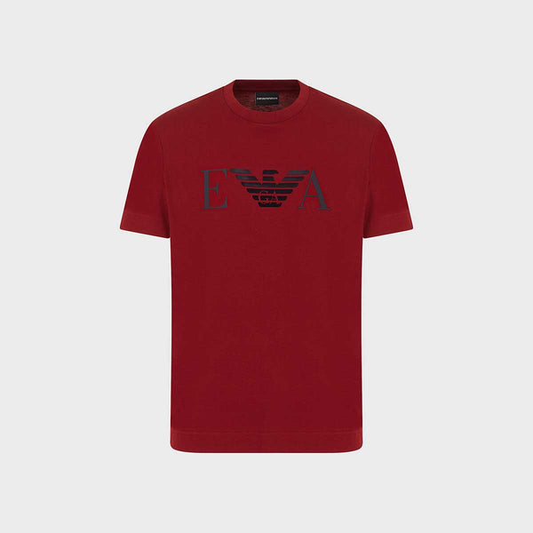 Emporio Armani Cotton Jersey T-Shirt With Frontal Logo