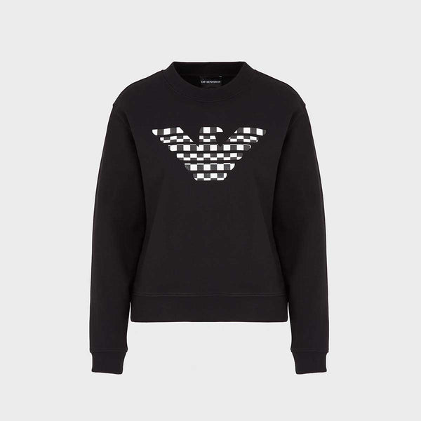 Emporio Armani Sweatshirt With Patterned Eagle Print