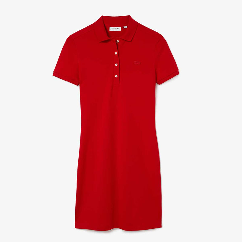 Lacoste Women's Stretch Cotton Piqué Polo Dress