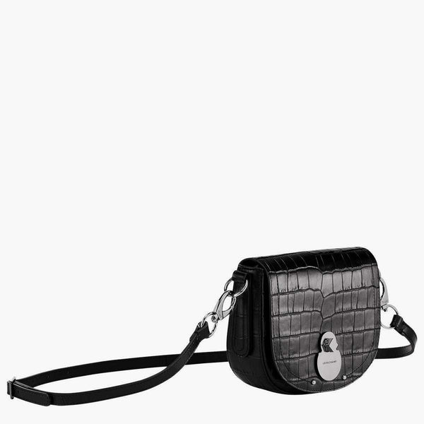 Longchamp Cavalcade Croco Cross Body Bag