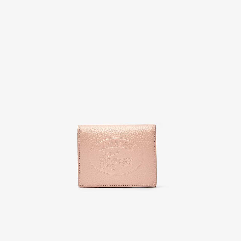 Lacoste Women's Croco Crew Grained Leather Snap Wallet