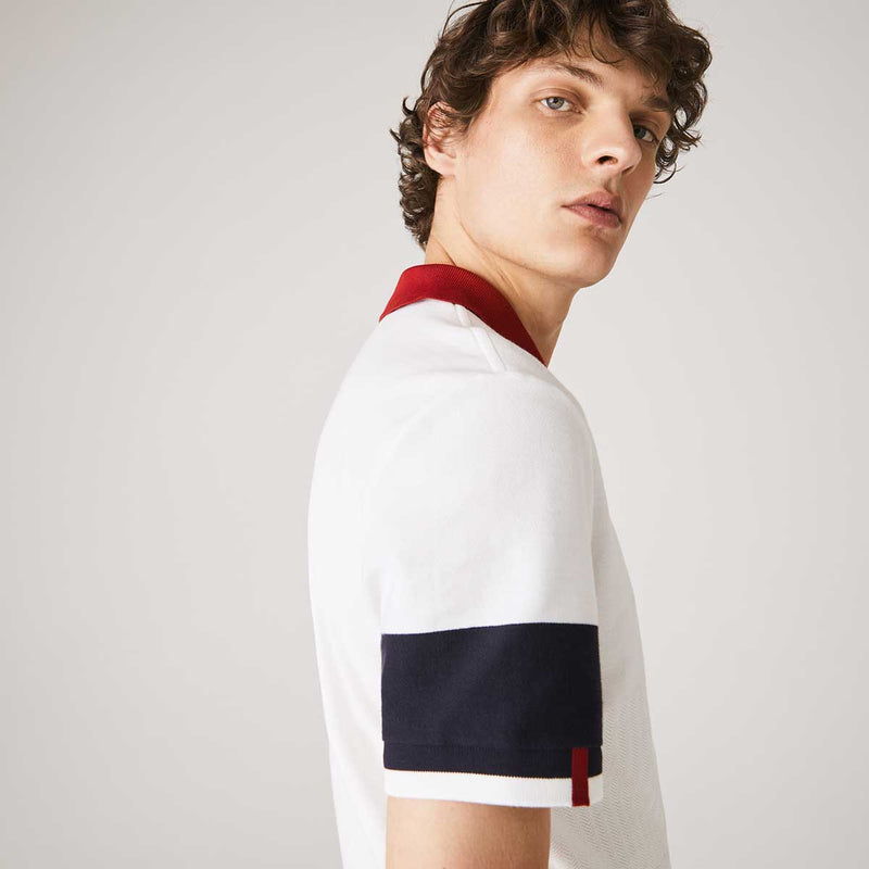Men's Lacoste Made in France Regular Fit Two-Tone Organic Cotton Polo Shirt