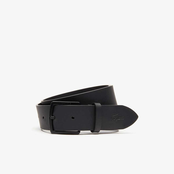 Lacoste Men's Lacoste Engraved Buckle And Crocodile Smooth Leather Belt