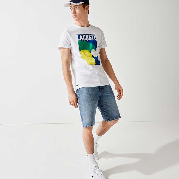 Lacoste Men's SPORT Breathable Graphic Print T-shirt