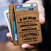 Daddy to Son - Learn from everything you can - Card Wallet