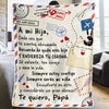 Dad to daughter - I am Always with you - blanket