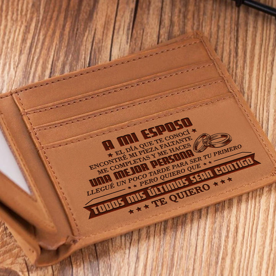 Wife to Husband - You complete me and make me a better person - Foldable Wallet