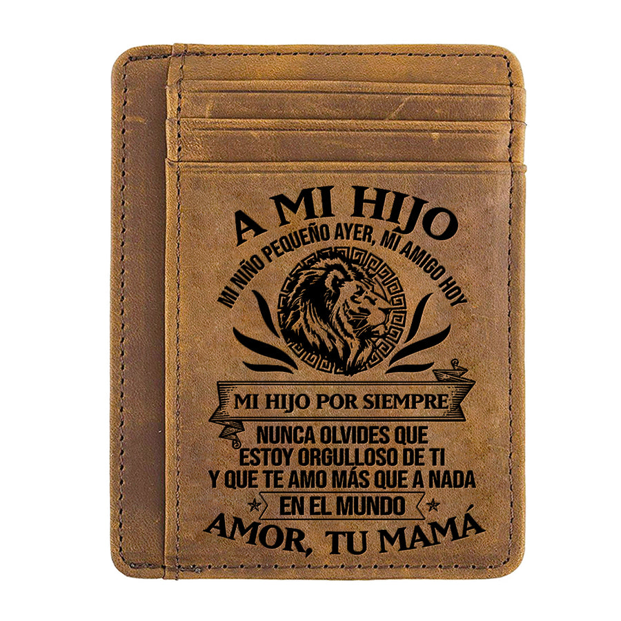 Mom to Son - Learn from all you can - Card Wallet