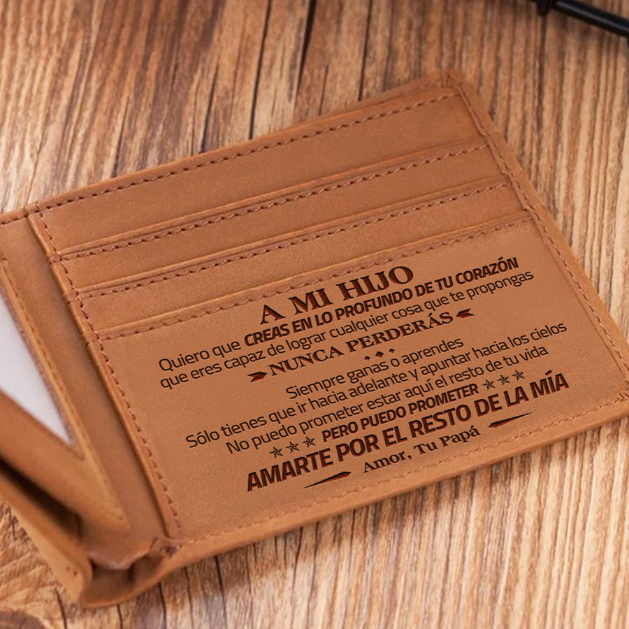 Daddy to Son - But I'll always take you in my heart - Foldable Wallet