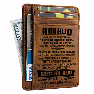 Dad to Son - I will always carry you in my heart - Card Wallet