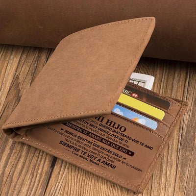 Mom to Son - Learn from everything you can - Folding Wallet