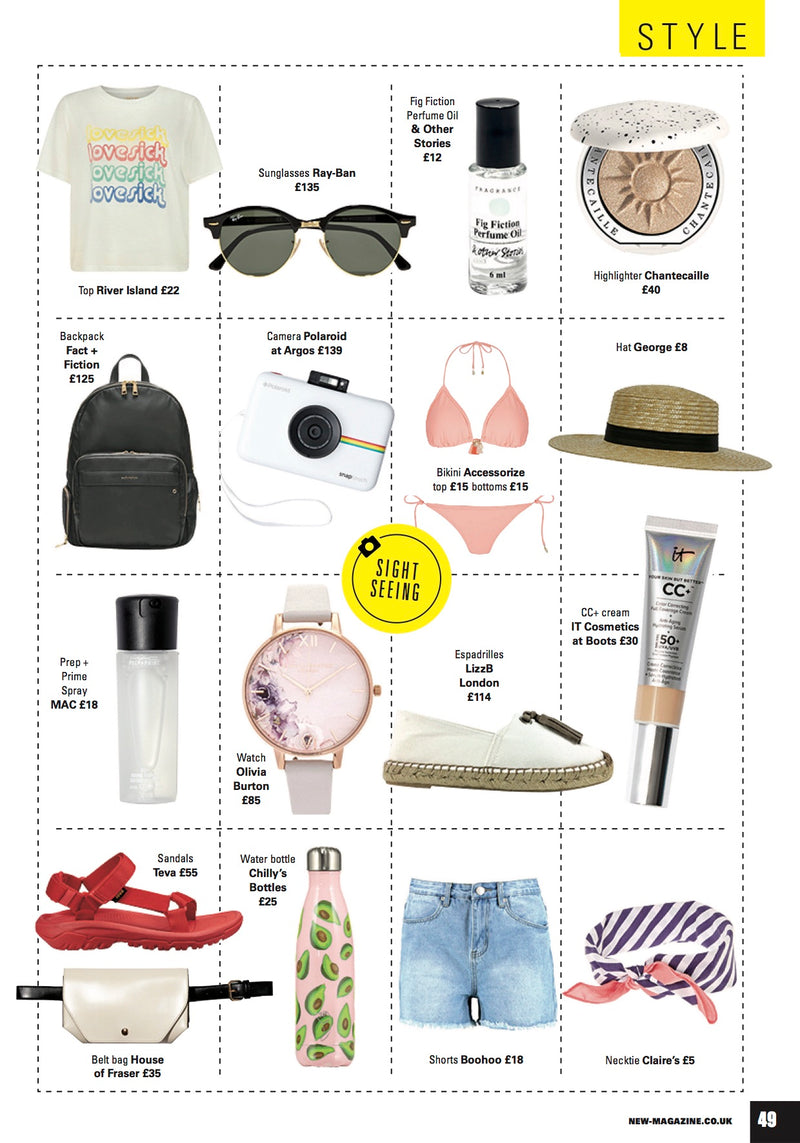 Lea Backpack featured in New Magazine as one of their top picks for 'Holiday Essentials'