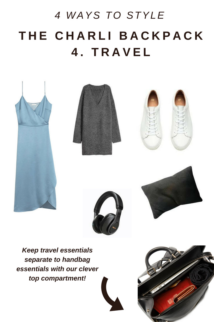 5 WAYS TO STYLE A BLACK BACKPACK - stylish diaper bag, sports bag or women's laptop bag, You choose!