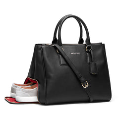 Handbag with a shoe compartment