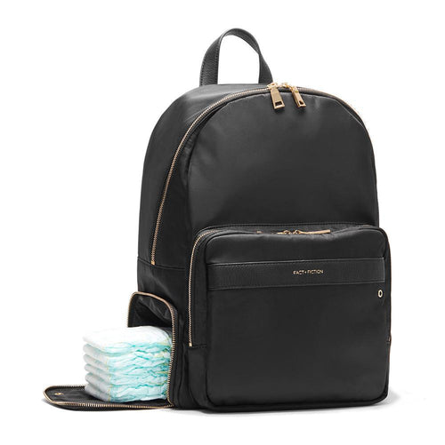 Lea Backpack Black + Gold-FACT + FICTION