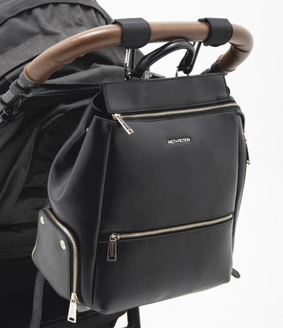 Charli Backpack Black + Changing Mat