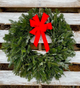 "Classic Fraser Fir Wreath (26"") Shipped To Your Door"