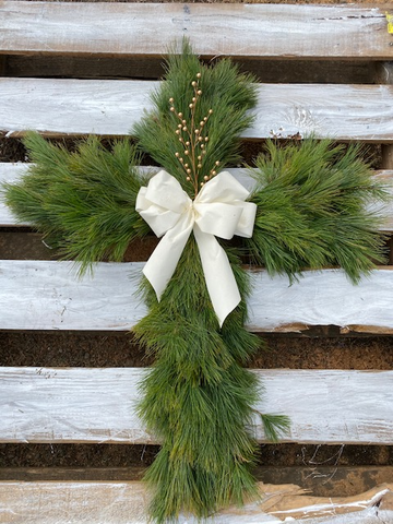 White Pine Cross Wreath
