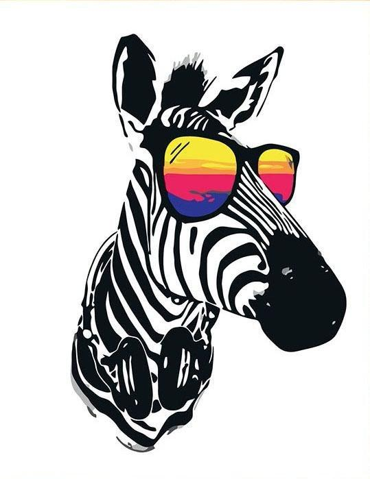 Zebra cool - Tablouri pe Numere