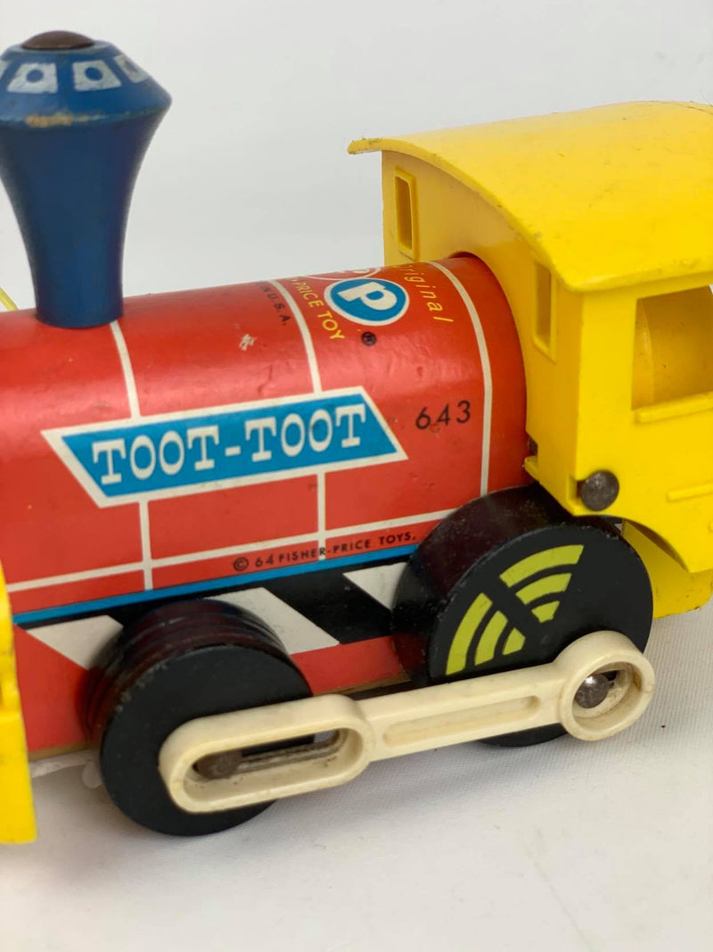 Fisher and Price Toot Toot wooden train 1964