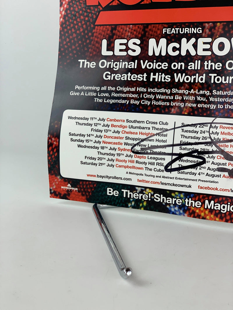 Signed Bay City Rollers Les McLeown poster 2018 Tour