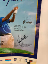 1993 'Hong Kong Golf Open' poster, autographed by winner Brian Watts, Tom Watson (1992 winner)