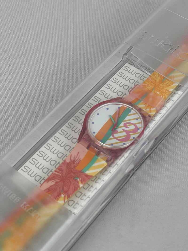 Swatch SUJR100 pink watch NEW