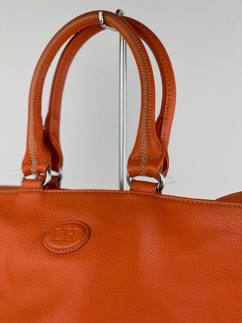 Louen Hide orange leather handbag