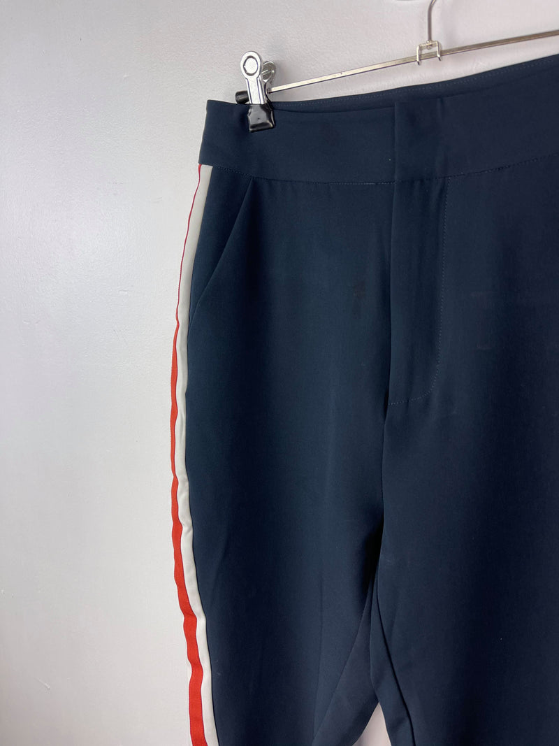 Elka Collective navy mid waist stripe pants Size 10