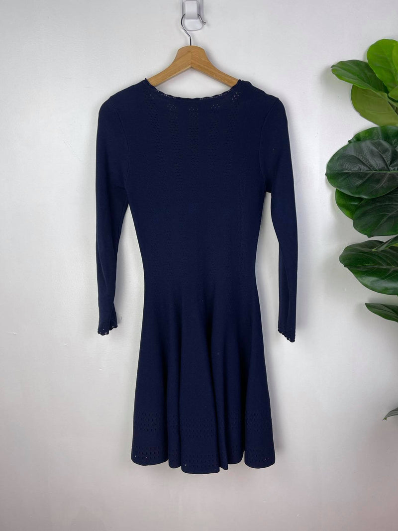 Authentic Burberry navy long sleeved dress Size M