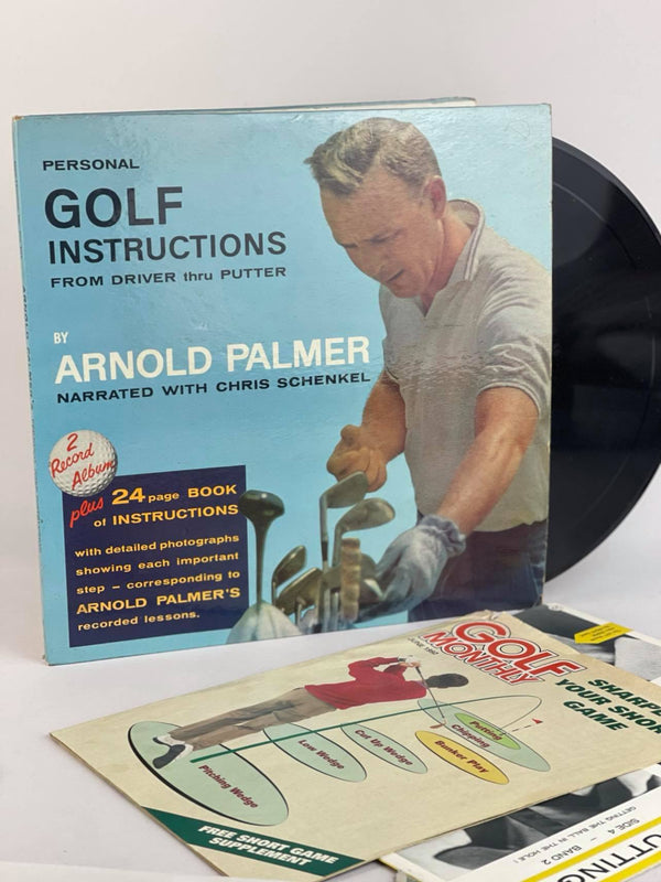 Personal Golf Instructions from Driver thru Putter Vinyl set by Arnold Palmer