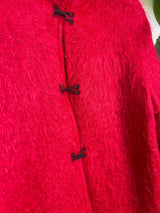 Alexon British red mohair and woolen coat Size M