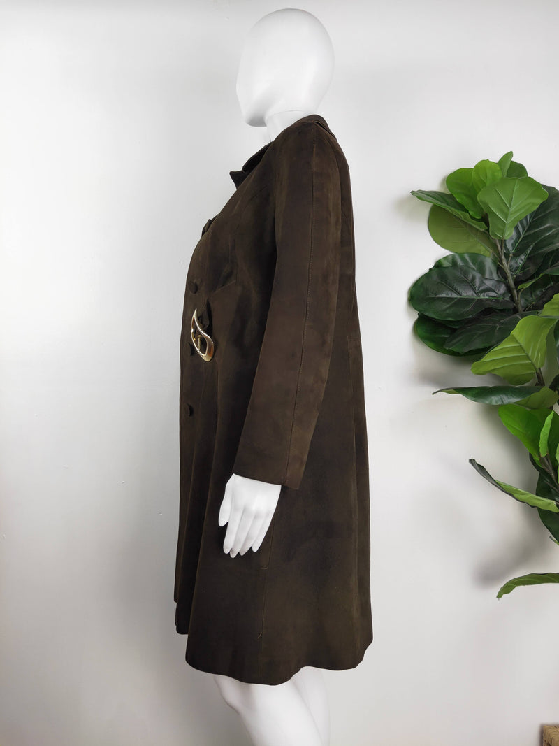 Emkar of Melbourne Vintage Brown Suede Jacket (Size S)
