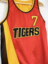 Red & Yellow 'Tigers' Basketball style vest (Size Small)