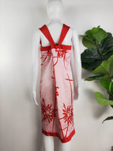 George Gross red & pink silk dress (size 16 au)
