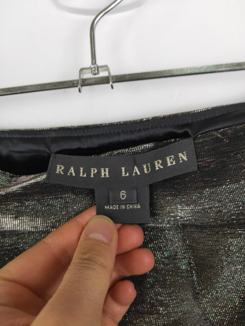 Ralph Lauren Silver Metallic Skirt (6 AU)