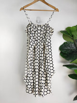 Carla Zampatti black & white polkadot summer dress (size 8 AU)