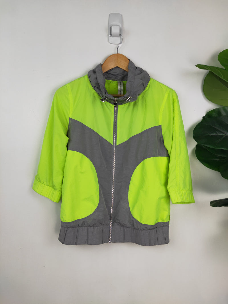 Lorna Jane neon lime green running jacket (size small)
