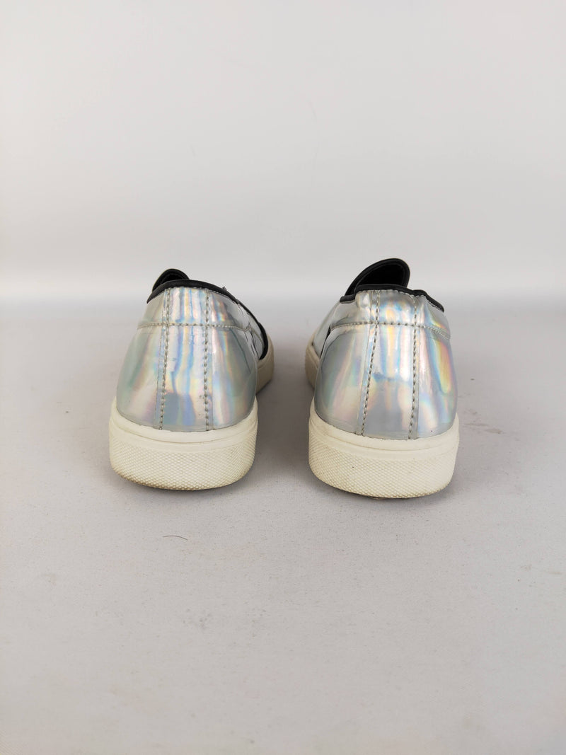 Smile Cats Holographic Loafers - Size 5