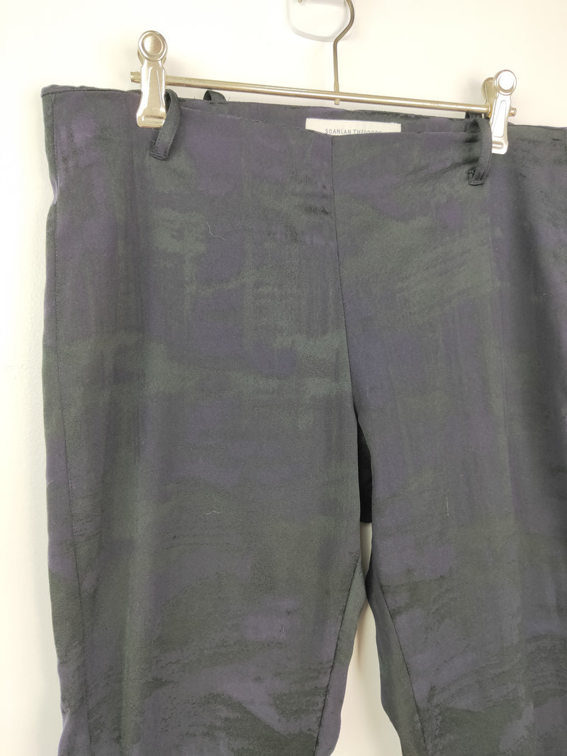 Scanlan Theodore black, purple & green tone pants (size 10 AU)