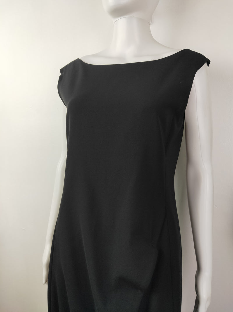 Authentic Moschino black ripple dress (size 44 IT)