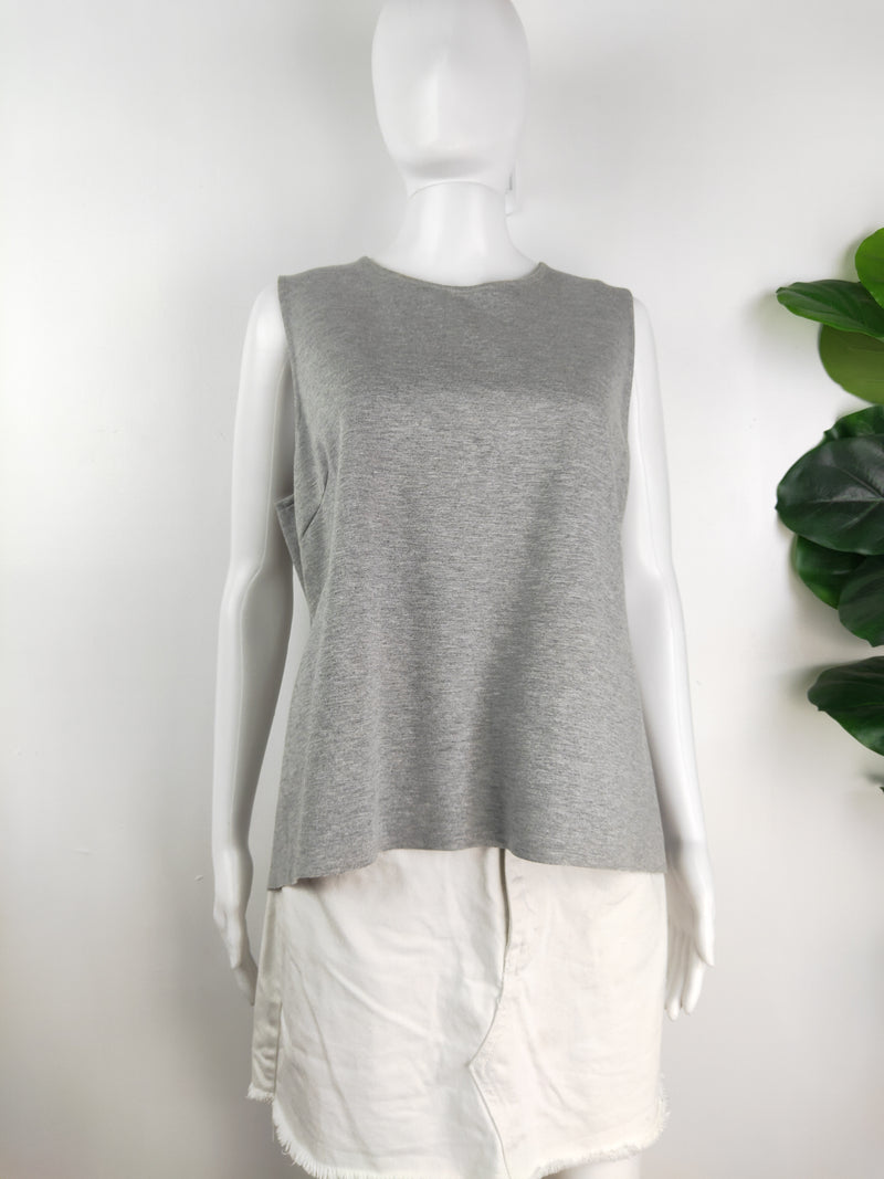 L.W.B. grey crop waterfall singlet (size 14 AU)