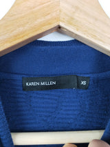 Karen Millen blue mock turtleneck bodycon dress (size XS)