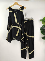 Animale black & cream graphic 2 piece set (size small)
